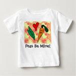 Peas Be My Valentine Baby Shirts
