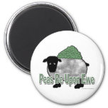 Peas Be Upon Ewe 2 Inch Round Magnet
