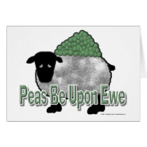 Peas Be Upon Ewe Card