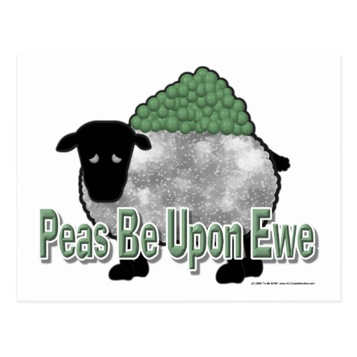 Peas Be Upon Ewe Post Cards