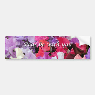 Peas be with you sweet peas car bumper sticker