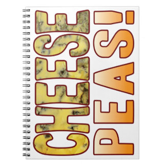 Peas Blue Cheese Spiral Notebook