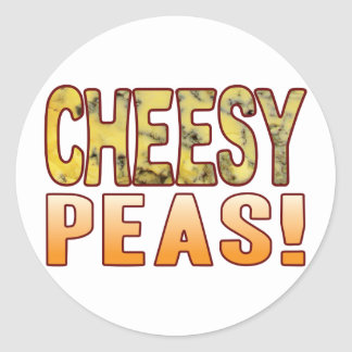 Peas Blue Cheesy Classic Round Sticker