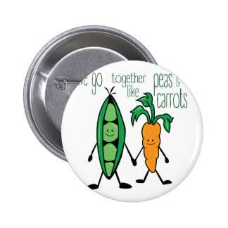 Peas & Carrots 2 Inch Round Button