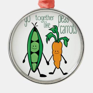 Peas & Carrots Metal Ornament