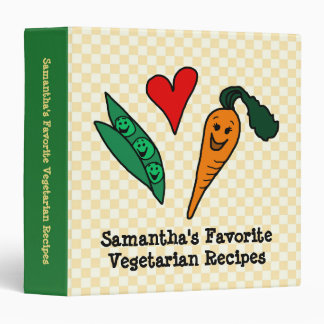 Peas + Carrots, Personalized Vegetable Recipe Book Binder