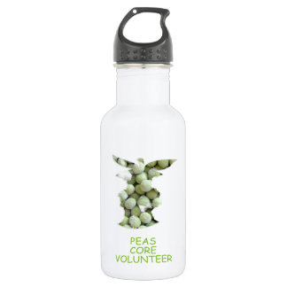 Peas core volunteer water bottle