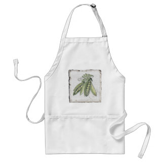 Peas~ Handcrafted Courtyard Tile, Italy Adult Apron