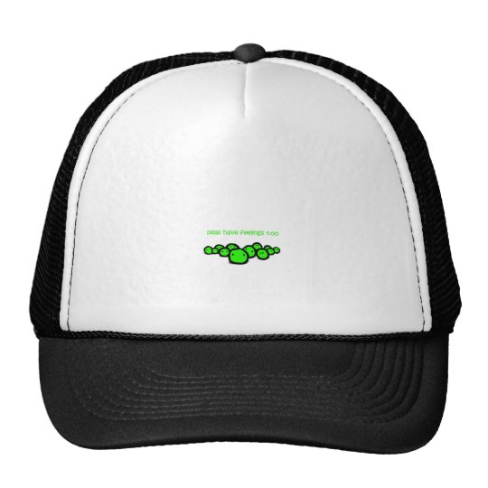 peas have feeling too trucker hat