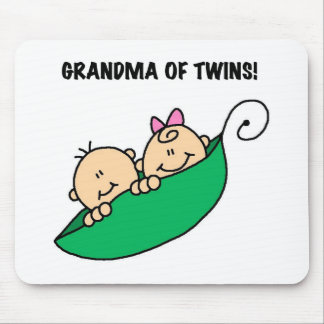 Peas in a Pod Grandma of Twins Mouse Pad
