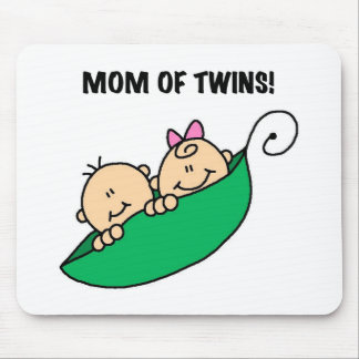 Peas in a Pod Mom of Twins Mouse Pad