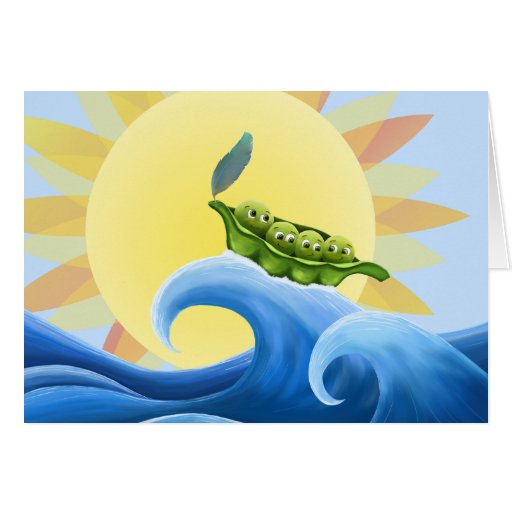 Peas in a Pod on a Wave -fun- -card-