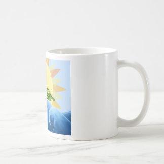 Peas in a Pod on a Wave in the Sun -fun- Coffee Mug