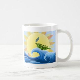 Peas in a Pod on a Wave in the Sun -fun- Mugs
