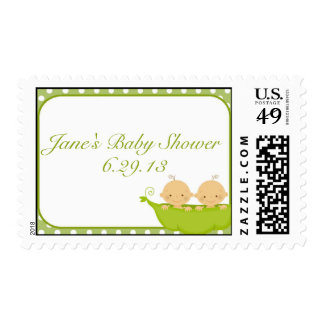 Peas In A Pod Twins Baby Shower Postage