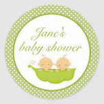 Peas In A Pod Twins Baby Shower Sticker