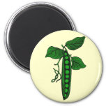 Peas in Pod 2 Inch Round Magnet