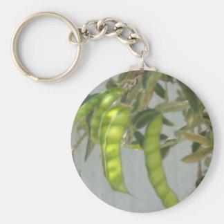 Peas Basic Round Button Keychain