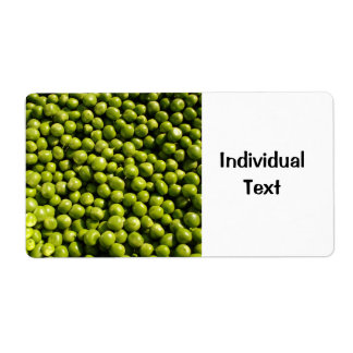 peas label