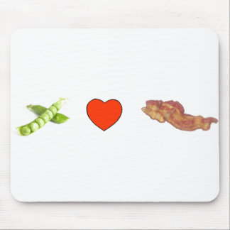 Peas, Love, Bacon Mouse Pad