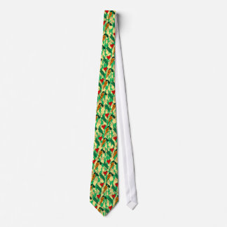 Peas Love Carrots, Cute Green and Orange Design Neck Tie
