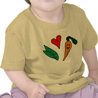 Peas Love Carrots, Cute Green and Orange Design Tees