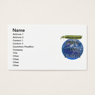 Peas on Earth Business Card