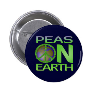 Peas on Earth Button