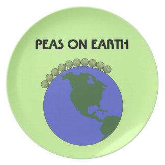 Peas On Earth Dinner Plate