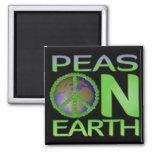 Peas on Earth Fridge Magnet