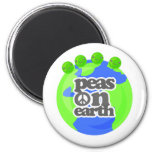 Peas on Earth Fridge Magnets
