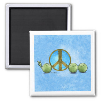 Peas on Earth - Go Green magnet