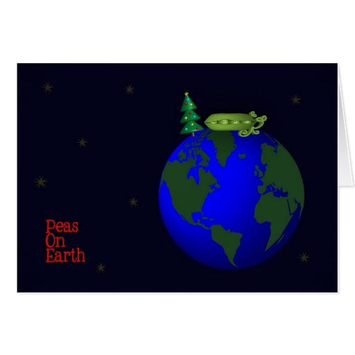 peas on earth greeting cards