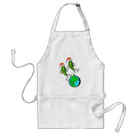 Peas on Earth Holiday Adult Apron