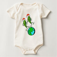 Peas on Earth Holiday Infant Apparel Baby Bodysuit