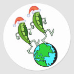 Peas on Earth Holiday Stickers