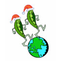Peas on Earth Holiday T-shirt shirt