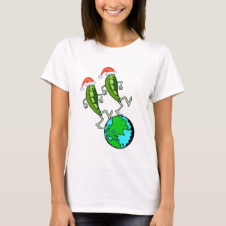Peas on Earth Holiday T-shirt