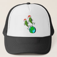 Peas on Earth Holiday Trucker Hat