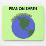 Peas On Earth Mouse Pads