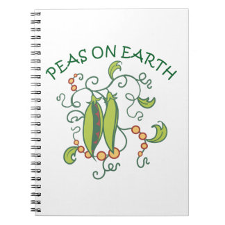 PEAS ON EARTH SPIRAL NOTEBOOKS