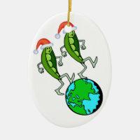 Peas on Earth Ornament