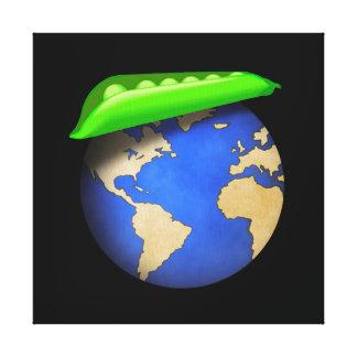 Peas on Earth - Peace on Earth Holiday Canvas Print