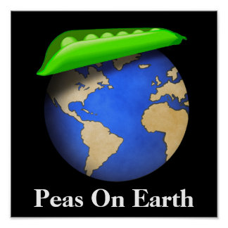 Peas on Earth - Peace on Earth Holiday Poster