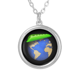 Peas on Earth - Peace on Earth Holiday Silver Plated Necklace