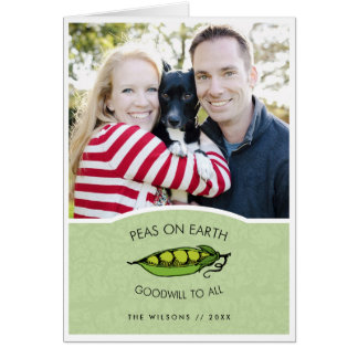 Peas on Earth Photo Holiday Card