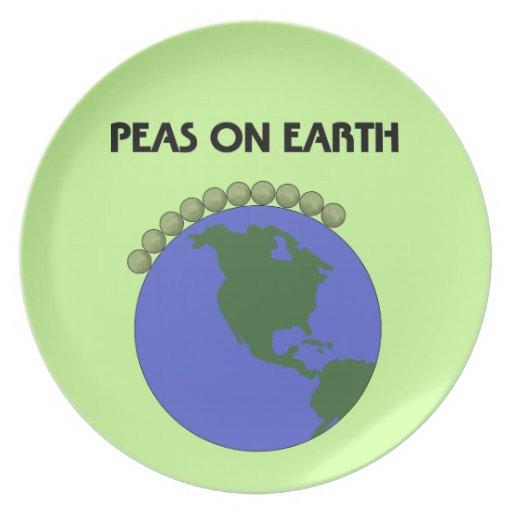 Peas On Earth Plates