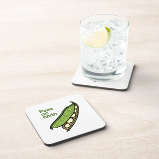 PEAS ON EARTH -.png Drink Coaster