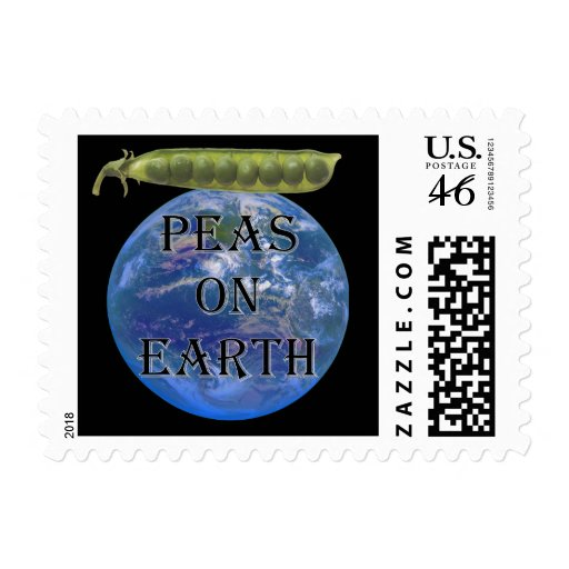Peas on Earth Postage