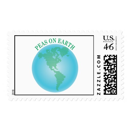 Peas On Earth Postage Stamps